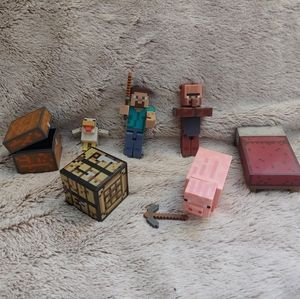 Minecraft figures with props